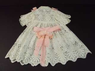 Lace Dress for Antique 20 21 JUMEAU BRU Steiner Bebe Doll