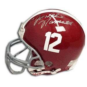 Joe Namath Alabama Crimson Tide Autographed Helmet Sports