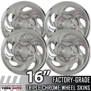 97 00 FORD EXPEDITION 16 Chrome Wheel Skin Covers