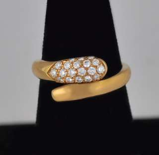 Bulgari Bvlgari Diamond 18k Yellow Gold Ring