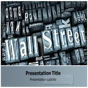 Wall Street Powerpoint Templates   Background for Wall