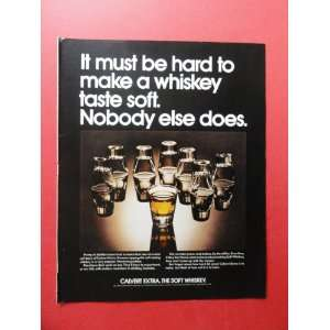 Calvert Extra whiskey,1972 print advertisement (upside
