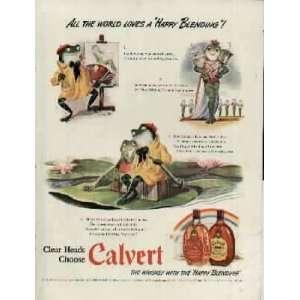 Ad.  1942 Calvert Blended Whiskey Ad, A4345.