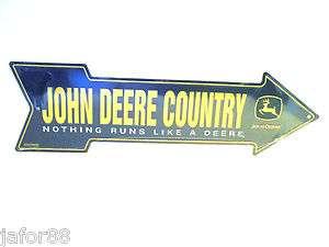 JOHN DEERE COUNTRY ARROW METAL STREET SIGN