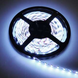New 5M 16FT 12V Waterproof 3528 SMD LED Strip 300 LEDs Cool White High