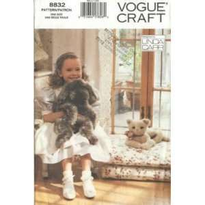 Vogue Craft 8832 25 Stuffie Faux FUR DOG & CAT Animal