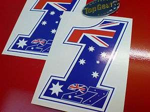 CASEY STONER Number 1 Fairing Motorcycle Stickers Decals 2 off 120mm