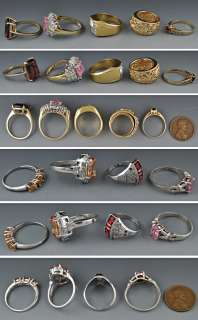 Gold Plated & Sterling Silver Rings Various Styles & Sizes
