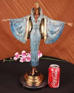 Fashion Lady Bronze Statue Figurine Sculpture Art Marble Sculpture