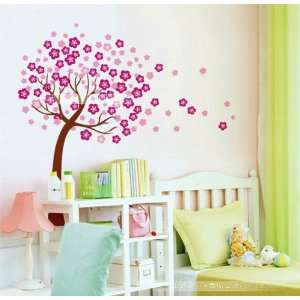 Wall Decor Removable Decal Sticker   Giant Cherry Blossom Tree in Wind