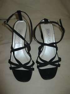 GUC CALICO Womens Black Sandal Heels Shoes 8M
