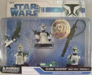 Star Wars Clone Trooper Bust ups Armada 2 NIP ages 3+