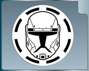 Star Wars REPUBLIC COMMANDO HELMET w/ Logo vinyl decal