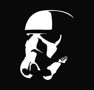 Star Wars   Stormtrooper Die Cut Vinyl Decal Sticker