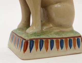 Pair of Staffordshire Pottery Seated Cats on Bases *
