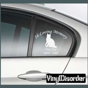 Cat Bengal 1 In Loving Memory Custom Car or Wall Vinyl Decal Stickers