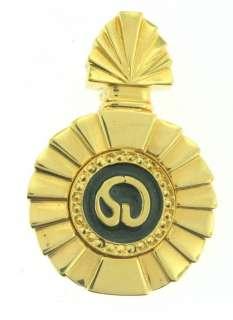 St John Knit GOLD BLACK SJ LOGO Perfume Bottle 2 JACKET PIN