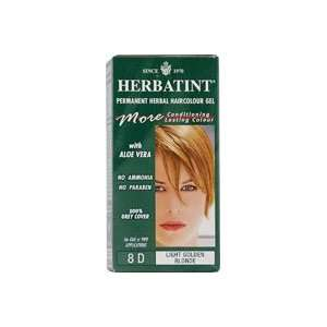 Herbal Haircolour Gel 8D Light Golden Blonde    135 mL Beauty