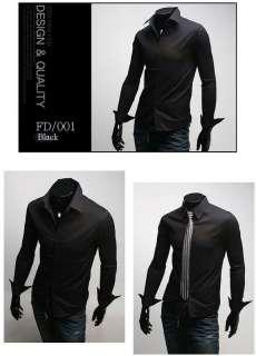 Mens casual dress shirts slim line Unique design M