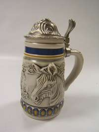 Avon lidded stein Endangered Species Mountain Zebra