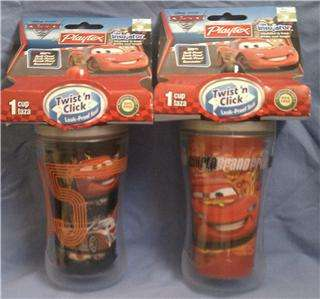 Disney Princess Cars Toy Story Mickey Mouse Sippy Cups Lot of 2
