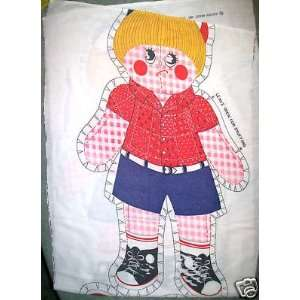 NEW Sad Girl Cut Out Printed Pattern Sewing Craft 22
