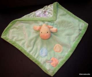Carters Just One Year I love Mommy Green Giraffe Security Blanket