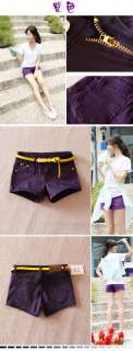 Casual Candy Colours Shorts mini Short Jeans low waisted Summer pants