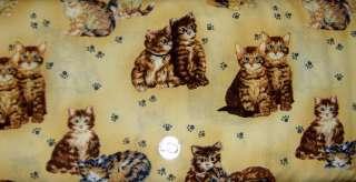 Cat Kitten Paw Print Custom Fabric Valance Curtain
