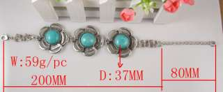 Sets Tibet Silver Turquoise Necklace Bracelet Ring s004