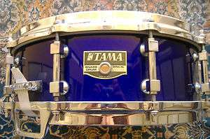 HARD TO FIND TAMA Artwood 5X14 Snare JEWEL BLUE HIGH GLOSS LACQUER