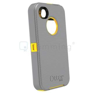 Cases Cover For iPhone 4S & 4 G Gun metal Grey/ Sun Yellow