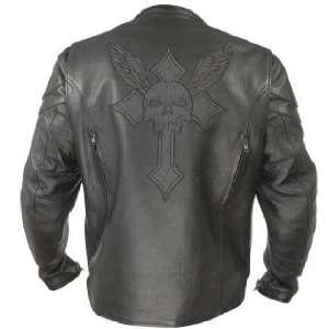 Xelement XS 2058 Armored Mens Leather Motorcycle Jacket