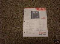 Sony TC 730 Reel to Reel Service Manual FREE SHIP!