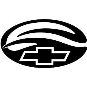 Chevy Logo 5 Inch White Decal Sticker
