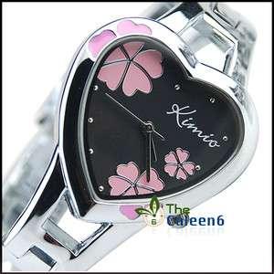 New Charm Fashion Women Heart Ladies Bracelet Watch 440