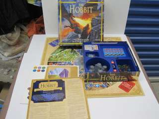 RINGS THE HOBBIT Board Game EUC Defeat of the evil dragon Smaug