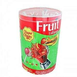 Chupa Chup Fruit & Creamy Lollipops, 100 count tub: