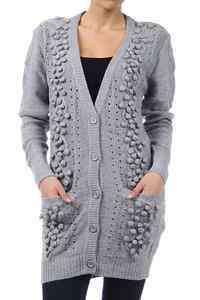 Sweater Cardigan Knit Top Embellished Small Medium Large XL XXL