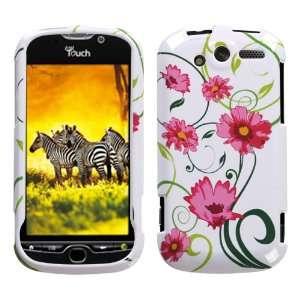 White Green Vine Pink Flower Snap on Design Case Hard Case