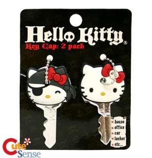 Sanrio Hello Kitty 2 Key Cap Pirate Skull  Loungefly