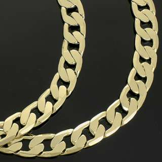 Mens 30 Inch Gold Plated 12mm Cuban Link 14K Overlay Chain Hip Hop