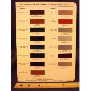 , & DE SOTO Paint Colors Chip Page Chrysler Corporation Books