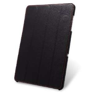 Handmade Premium Genuine Cowhide Leather Case Slimme Cover Type Black