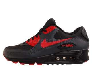 Air Max 90 2012 BLack Grey Siren Red Running Shoes 325213 020