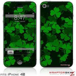 iPhone 4S Skin St Patricks Clover Confetti by WraptorSkinz