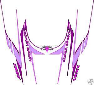 POLARIS INDY SUPER SPORT HOOD DECALS, SHROUD