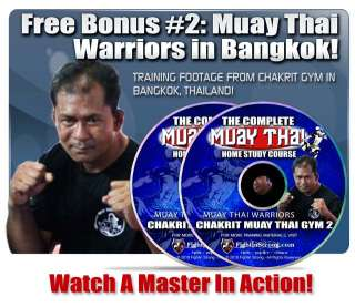 clinch control, plus 4 dvds of actual Thai fighters training in
