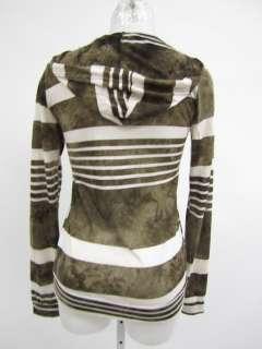 VINTAGE HAVANA Brown White Stripe Long Sleeve Shirt S