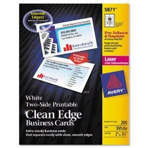 Avery Two Side Clean Edge Laser Business Cards AVE5874
